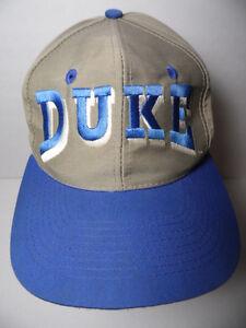 Rare Vintage 1990s DUKE BLUE DEVILS NCAA Basketball SNAPBACK HAT CAP ... 987e459a7eb