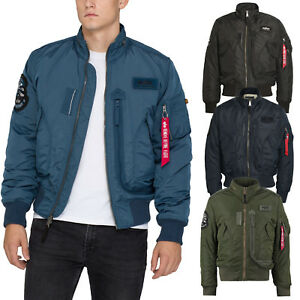 competitive price 60519 c5684 Details about Alpha Industries Men's Jacket Engine Jacket Bomber Ma1 Winter  Men S to 5XL New