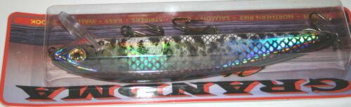 "7 1//2/"" Grandma Lure Classic Crankbait Musky Pike Holoform Crappie G7H-41"
