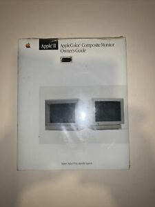 AppleColor Composite Monitor Owner's Guide manual Apple II IIe vintage computer