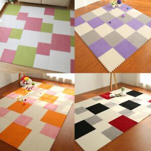 Details About 1 9pcs Eva Foam Carpet Baby Kids Playmat Diy Puzzle Crawling Soft Floor Mat 30cm