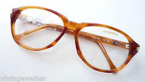 Jil-Sander-Designerbrille-rotbraune-Hornoptik-edel-Herren-Fassung-TOP-size-L