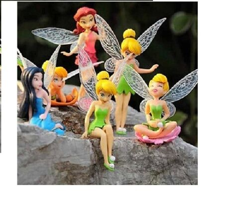 12 Flower Fairy Pixie Women Fly Wing Family Miniature Dollhouse Garden Ornament