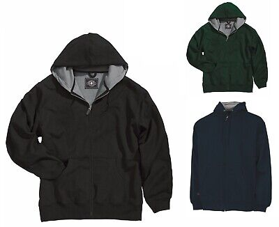 Solid Lined Hooded Zip Front Jacket