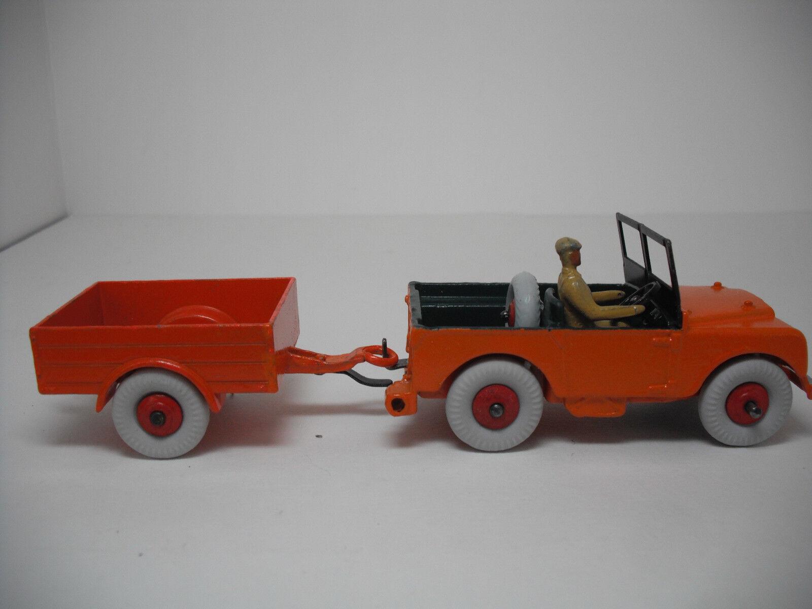 Meccano Ltd. Dinky Toys Land Rover Jeep & Remolque  341 restaurado a casi nuevo y sin usar