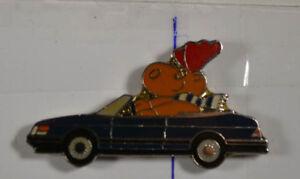 Pin Badge 1,5 X 4 Cm Starke Verpackung Schwarz Warnen Auto Saab- Elch an2603