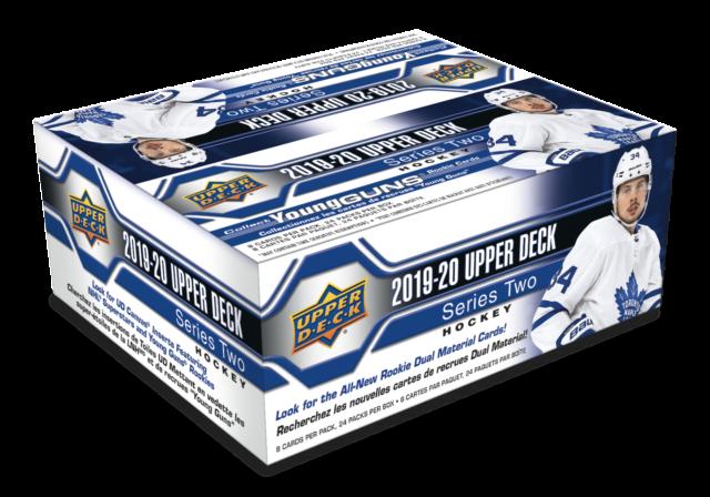 2019-20 Upper Deck Series 2 NHL Hockey Trading Cards 192c. New RETAIL Foil Box