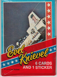 1974 TOPPS EVEL KNIEVEL UNOPENED PACK - SCARCE TEST ISSUE (H)