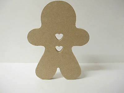 GINGERBREAD Men Shapes. Large Free Standing 12mm Thick