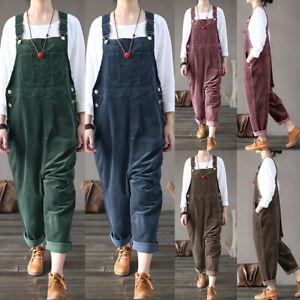 ZANZEA-Femme-Combinaison-Pantalon-Salopette-Style-Decontracte-Loisir-Casual-Plus