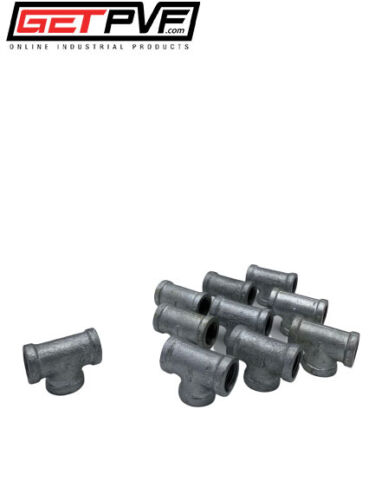 """10 3//4/"""" Threaded Galvanized Malleable Iron Pipe Tees Fitting"""