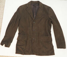Mens BRUNO MAGLI Super Soft suede Brown LEATHER Blazer Jacket - 40 Made in Italy
