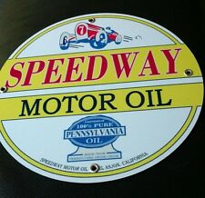 Speedway Motor Oil Gasoline gas sign