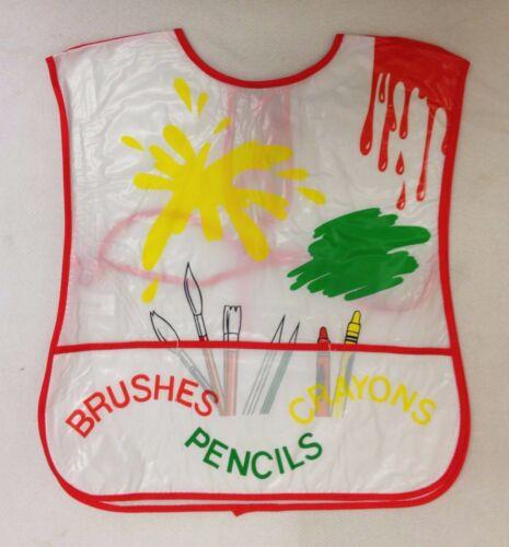 Peinture Playtime Enfants Tablier Grand PVC Tablier bavoir avant \ dos couvert NEUF