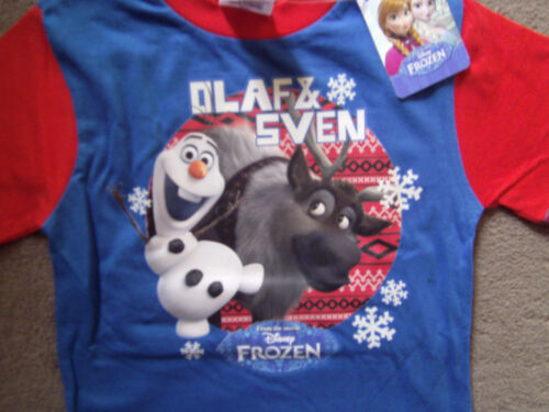 Disney Frozen Boys Pyjamas//Pajamas//PJ Gift Set Olaf Sven Kids Blue Red 1-3 year