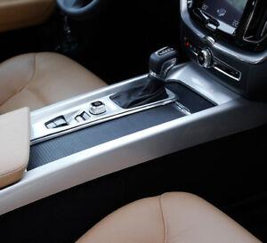 ABS Matte Interior Gear Shift Box Panel Cover Trim 2pcs For Volvo