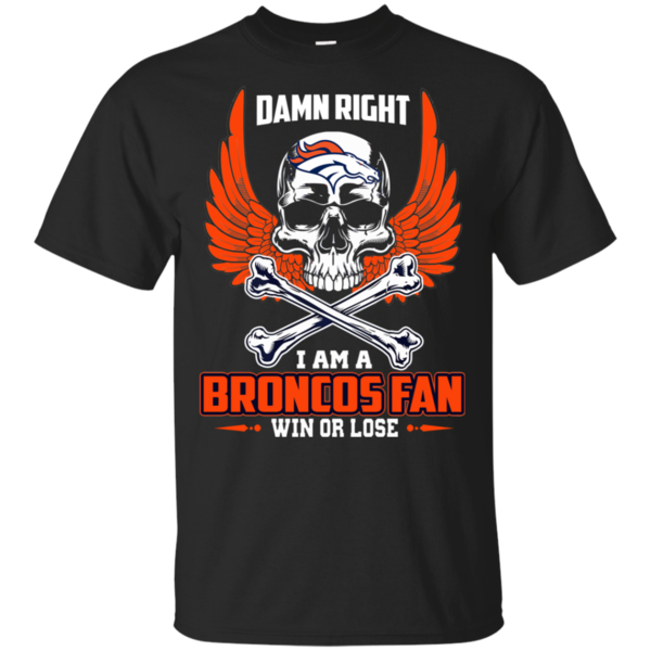 Denver Broncos American Football Team Skull Rock With Crown T Shirt