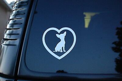 Chihuahua Love Heart Vinyl Sticker Decal (V79) Dog Puppy Cute Car Window Pet