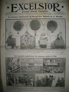 JOURNAL-EXCELSIOR-N-229-AEROSTAT-GRAND-PRIX-DEUTSCH-MANIF-INONDeS-ET-FISC-1911