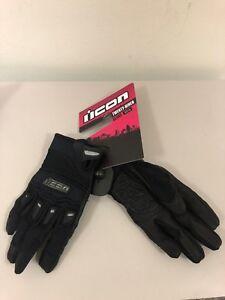 Icon Twenty-Niner CE Street Motorcycle Riding Black Gloves