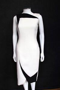 Antonio-Berardi-White-Black-Pencil-Dress-IT-40-UK-8