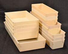Lot of 13 Rubbermaid Drawer Desk Organizer Plastic Storage Bins Silverware