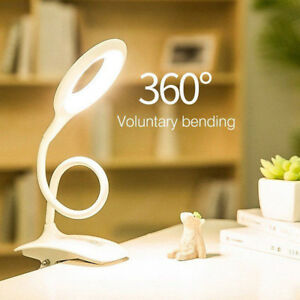 Flexible 3-Level Touch Sensor LED Reading Light Desk Table Lamp USB Rechargeable