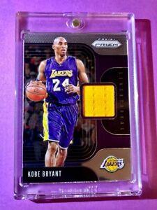 Kobe-Bryant-PANINI-PRIZM-GAME-WORN-JERSEY-PATCH-SWATCH-CARD-SENSATIONAL-Mint
