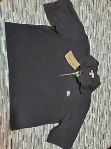 Burberry-Brit-Mens-Black-Nova-Check-Short-Sleeve-Polo-Shirt-Size-Small