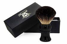 Black Badger Hair shaving brush for men's.Newly designed handle in Ivory &Metal