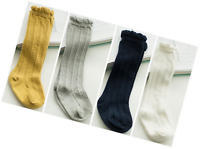 Toptim 4 Pairs Baby Toddlers Cable Knit Knee High Socks For Boy And Girls 1-3t