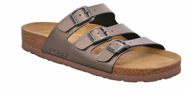 Rohde Zehensteg Pantolette Sandalette altsilber 5600//8