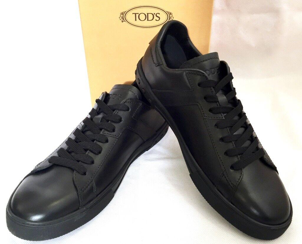 TOD'S   All Cassetta   shoes da Ginnastica black pelle Nera Scatola Originale