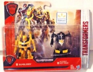 Transformers TLK Wal-Mart Exclusive Turbo Changers Bumblebee /& Hot Rod MOSC