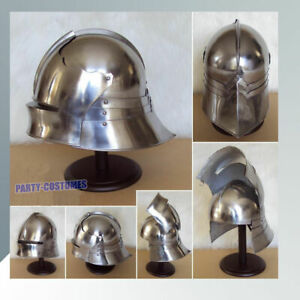 MEDIEVAL-GERMAN-SALLET-HELMET-GOTHIC-CLOSE-HELM-RE-ENACTMENT-ROLE-PLAY-COSTUME