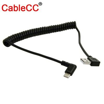 100cm Right Angled USB 3.1 Type C to USB 2.0 Cable 90 Connector for Tablet Phone