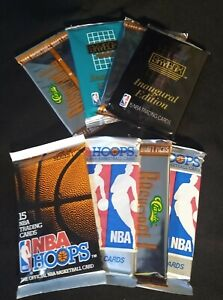 8 Pack Lot Unopened NBA Cards In Sealed Packs Vintage 90's