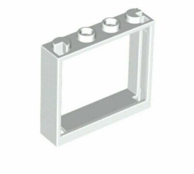 Lego 1x4x3 Window with GLASS No Shutter Tabs In White 60594 pack of 4 NEW