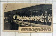 1939 North Shields Fish Quay Procession Blessing The Fishing Fleet