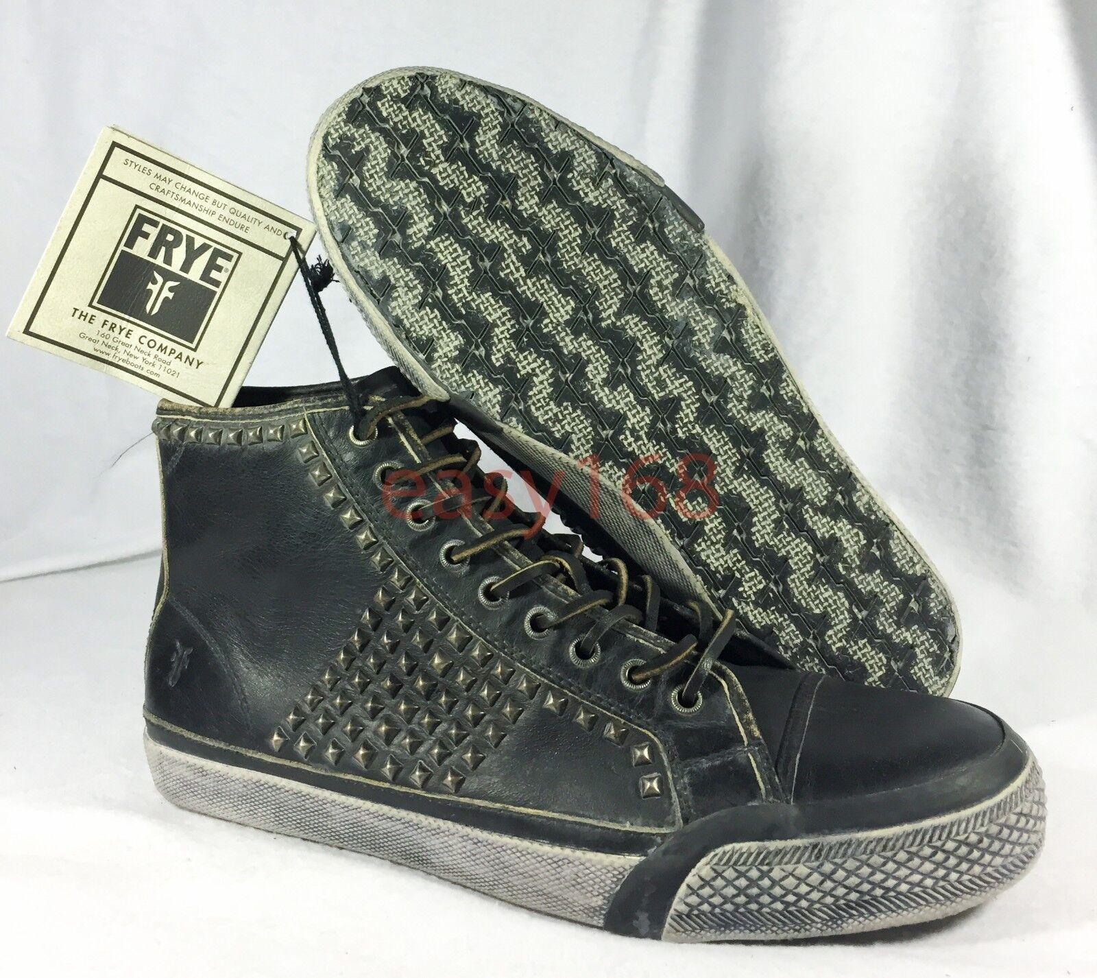 New FRYE Greene Studded Tall Sz 8.5 Men shoes Antique Black Leather Logan Wayde