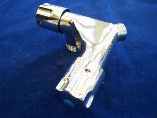 """Geräte Doppelventil poliert verchromt 1//2/"""" IG x 1//2/"""" AG x 3//4/"""" Abgang 2 fach"""