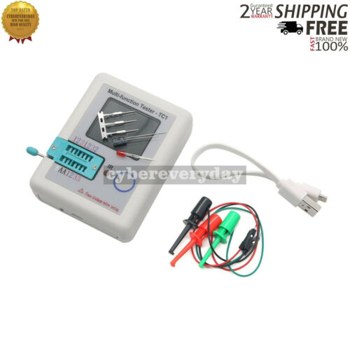 Multi-function Tester TC1 LCR 3.5/'/'TFT Colour Backlight Transistor Test Hooks dt