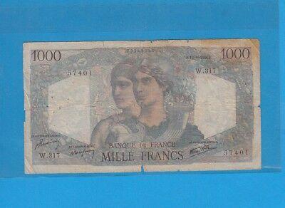 1 000 Francs Minerve Et Hercule Du 12-9-1946 W.317 Sterke Verpakking
