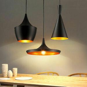 Retro-Lustre-E27-lampe-de-plafond-de-lumiere-pendentif-Industriel-style-en-metal
