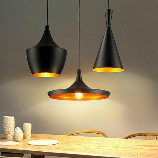 Rétro Lustre E27 lampe de plafond de lumière pendentif Industriel style en métal