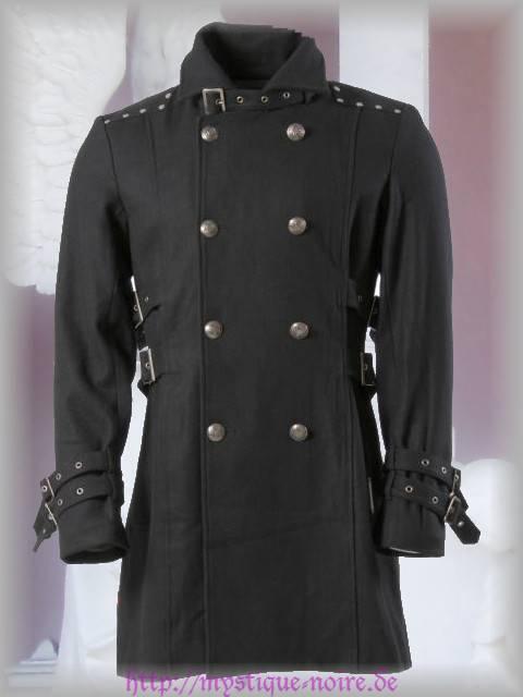 Steampunk Mantel kurz Viktorianisch Military Uniform Gothic schwarz S M L XL XXL