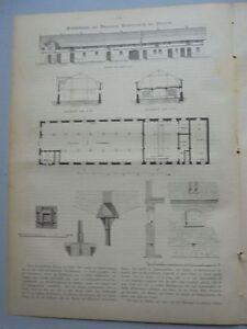 1882 79 Stallgebäude Auf Domäne Wasserjeutsch Von Schönberg
