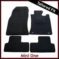 Mini One / Cooper / Cooper S Mk1 R50 R53 2-Clips Tailored Carpet Car Mats BLACK