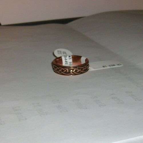 New Copper Ring Celtic Knot Band sz 6-13