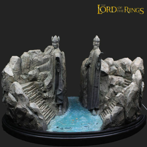 Nuovo The Lord Of The Rings Hobbit Gates Of Argonath Gate of Kings Statue Figure